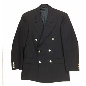 Burberrys Mens 41 Chest Blue Blazer Jacket